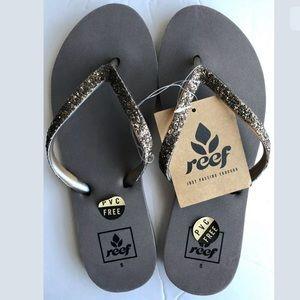 NWT Reef Iron Stargazer Glitter Sandals Size 5